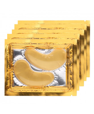 5 PAIRES DE 2 PATCHS CRYSTAL GOLD YEUX